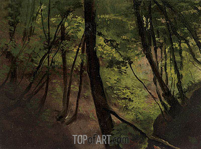 Waldinneres (In the Middle of the Forest), c.1881/87 | Klimt | Painting Reproduction
