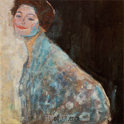 Portrait of a Lady in White, c.1917/18 | Klimt| Painting Reproduction