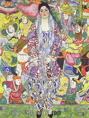 Portrait of Friederike Maria Beer-Monti, 1916 | Klimt| Gemälde Reproduktion