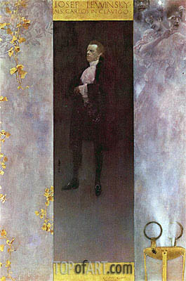 Hofburg actor Josef Lewinsky as Carlos, 1895 | Klimt| Painting Reproduction