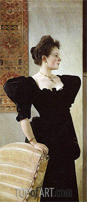 Portrait of Marie Breunig, c.1894 | Klimt| Painting Reproduction