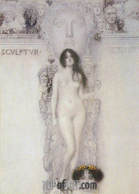 Allegory of Sculpture, 1896 | Klimt | Gemälde Reproduktion
