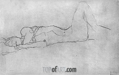 Klimt | Reclining Female Nude, c.1914
