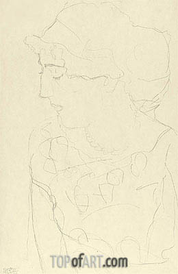 Klimt | Female Bust in Profile, c.1916
