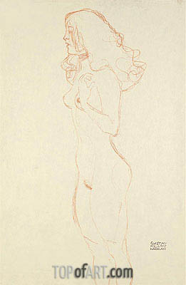 Standing Female Nude, c.1907 | Klimt| Painting Reproduction
