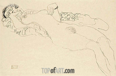 Reclining Female Nude, c.1914/15 | Klimt| Painting Reproduction