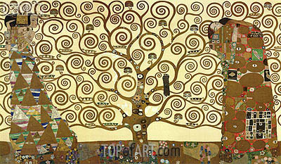 The Tree of Life - Stoclet Frieze, c.1905/06 | Klimt| Painting Reproduction