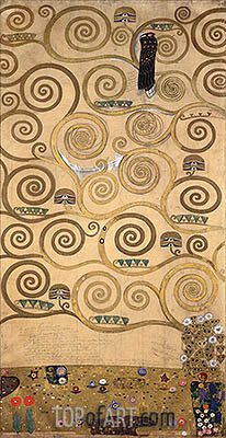 Left-Hand Portion (Stoclet Frieze), c.1905/06 | Klimt | Gemälde Reproduktion