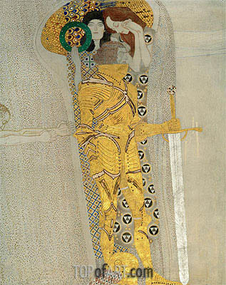 Klimt | The Knight in Shining Armor (The Beethoven Frieze), 1902