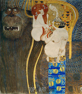 Detail from The Hostile Powers (The Beethoven Frieze), 1902 | Klimt| Painting Reproduction
