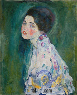 Portrait of a Young Woman, undated | Klimt| Painting Reproduction