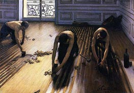 The Floor Scrapers, 1875 von Caillebotte | Gemälde-Reproduktion