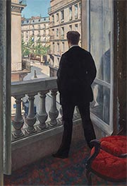 Young Man at His Window | Caillebotte | Painting Reproduction