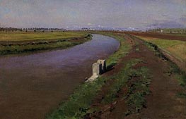 The Banks of a Canal, mear Naples, c.1892 von Caillebotte | Gemälde-Reproduktion