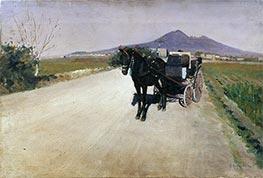 A Road near Naples, 1872 von Caillebotte | Gemälde-Reproduktion