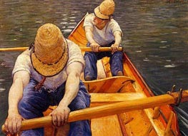 Oarsmen | Caillebotte | Painting Reproduction