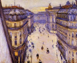 Rue Halevy, Seen from the Sixth Floor | Caillebotte | Painting Reproduction