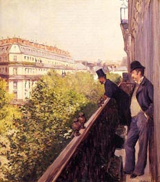 A Balcony | Caillebotte | Painting Reproduction