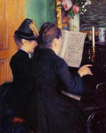 The Piano Lesson, 1881 by Caillebotte | Painting Reproduction