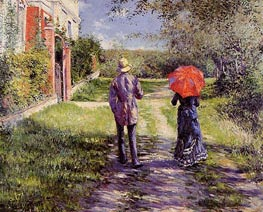 Rising Road, 1881 by Caillebotte | Painting Reproduction