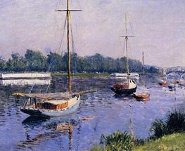 The Basin at Argenteuil, c.1882 by Caillebotte | Painting Reproduction