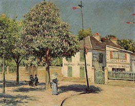 The Argenteuil Promenade, 1883 by Caillebotte | Painting Reproduction