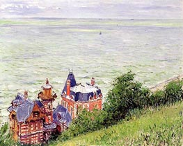 Villas at Trouville, 1884 by Caillebotte | Painting Reproduction