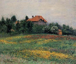 Norman Landscape, 1884 by Caillebotte | Painting Reproduction