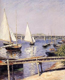 Sailing Boats at Argenteuil, c.1885/90 by Caillebotte | Painting Reproduction