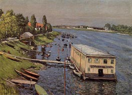 Boathouse in Argenteuil, c.1886/87 by Caillebotte | Painting Reproduction