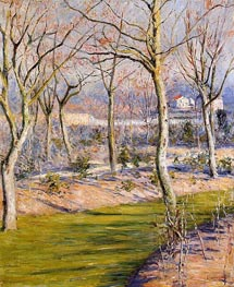 The Garden at Petit Gennevilliers in Winter, c.1894 by Caillebotte | Painting Reproduction