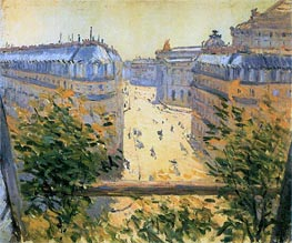 Rue Halevy Balcony View, 1878 by Caillebotte | Painting Reproduction