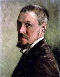 Self Portrait, undated by Caillebotte | Painting Reproduction