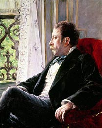 Portrait of a Man, 1880 by Caillebotte | Painting Reproduction