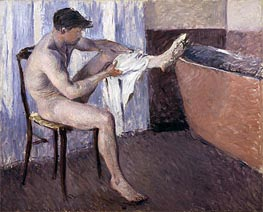 Man Drying his Leg, undated by Caillebotte | Painting Reproduction