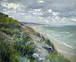 Cliffs by the Sea at Trouville, undated by Caillebotte | Painting Reproduction