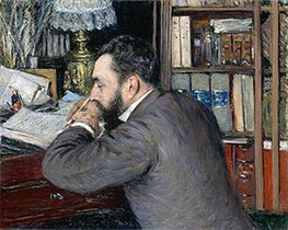 Portrait of Henri Cordier, 1883 by Caillebotte | Painting Reproduction