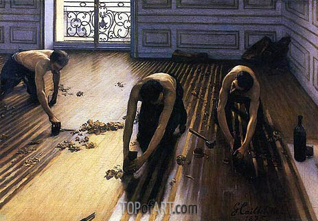 The Floor Scrapers, 1875 | Caillebotte | Painting Reproduction