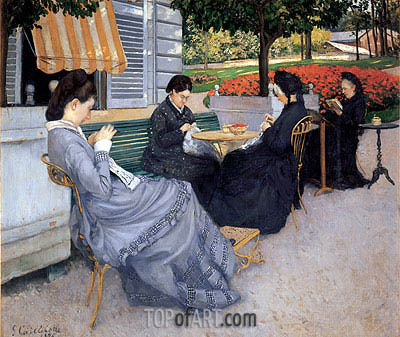 Portraits in the Countryside, 1876 | Caillebotte| Painting Reproduction