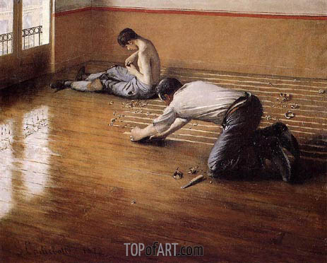 Caillebotte | The Floor Scrapers (variation), 1876