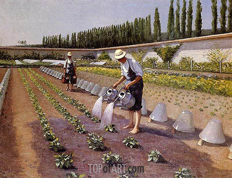 The Gardeners, c.1875/77 | Caillebotte | Gemälde Reproduktion