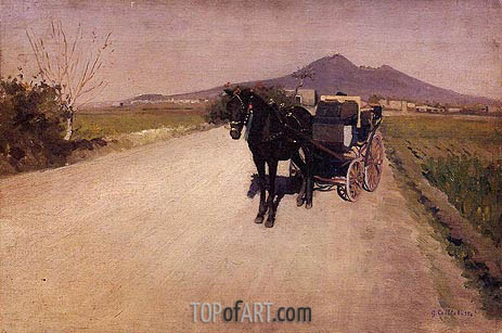 A Road near Naples, 1872 | Caillebotte | Painting Reproduction