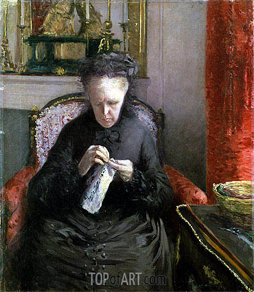 Portrait of Madame Martial Caillebotte, 1877 | Caillebotte | Gemälde Reproduktion