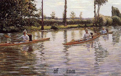 Perissoires, 1877 | Caillebotte | Painting Reproduction