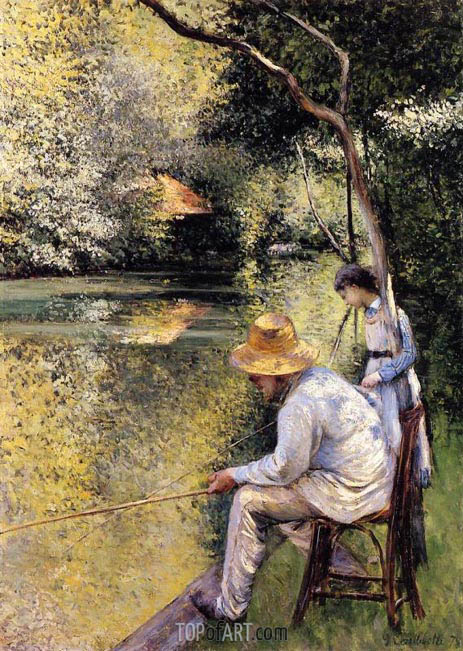 Fishing, 1878 | Caillebotte | Painting Reproduction