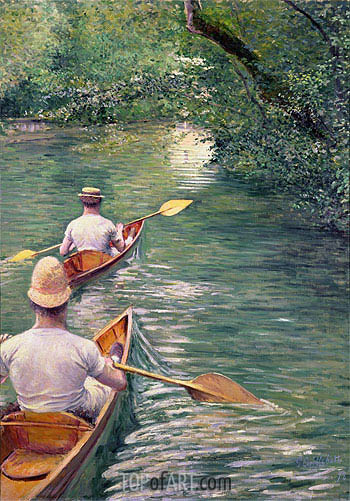 Perissoires (The Canoes), 1878 | Caillebotte | Painting Reproduction