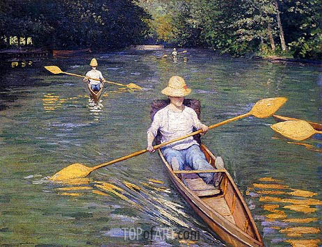 Skiffs, 1877 | Caillebotte | Painting Reproduction