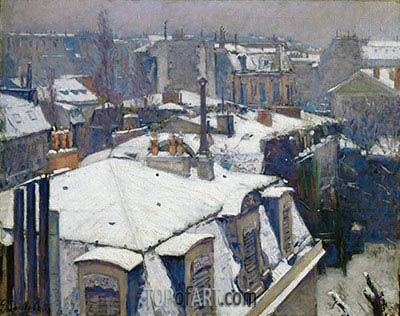 Caillebotte | View of Roofs (Snow Effect), 1878