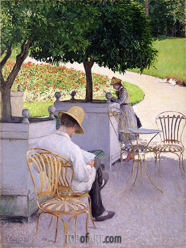 Orange Trees, 1878 | Caillebotte| Painting Reproduction