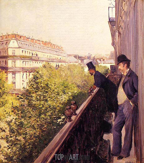 A Balcony, 1880 | Caillebotte | Painting Reproduction